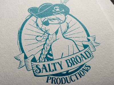 Logo Design: Salty Broad Productions salty broad canada vancouver island victoria bc drawing pen and ink branding illo illustration logo
