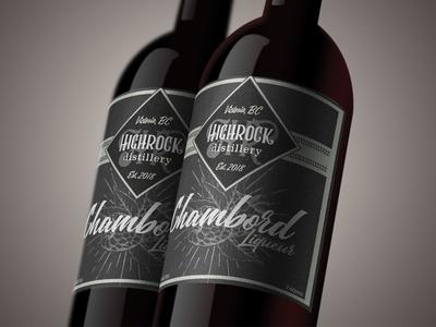 Label Design: Highrock Distillery, Chambord Liqueur