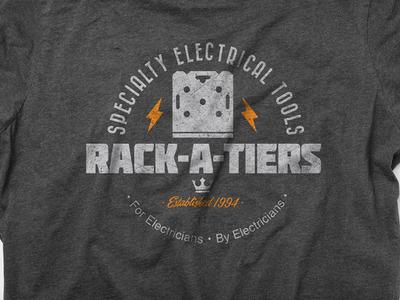 T-Shirt & Logo design: Rack-A-Tiers Manufacturing