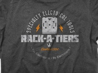 T-Shirt & Logo design: Rack-A-Tiers Manufacturing