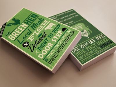 Rack Card Design: The Green Hen