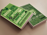 Rack Card Design: The Green Hen