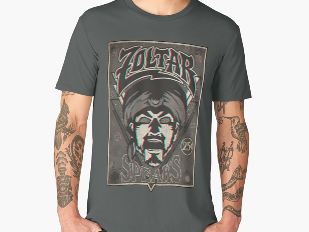 60e9334e0 Zoltar Speaks: Anaglyph 3D T-Shirt Design by Jesse Ladret | Dribbble ...