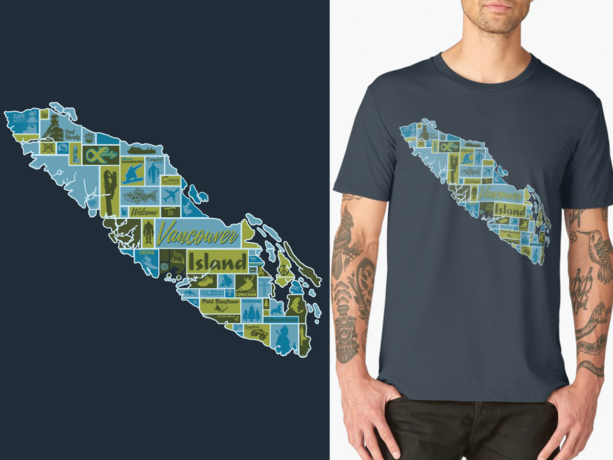 Vancouver Island Pictorialgraphic Map By Jesse Ladret Dribbble
