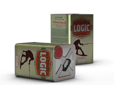 Packaging Design: Liquid Logic Laboratories victoria packaging engine oil bc victoria bc yyj type graphic  design british columbia label logo illustration typography canada typeography design print branding vancouver island packagingdesign