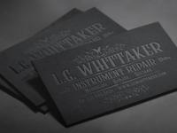 Business Card Design: L.G. Whittaker Instrument Repair
