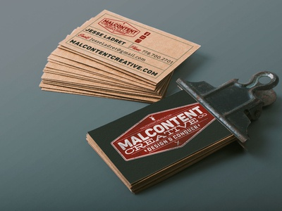 Business Card & Branding: Malcontent Creative Co.