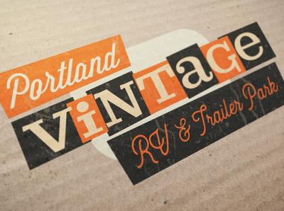 Logo Design: Portland Vintage RV & Trailer Park