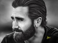 Jake Gyllenhaal | Digital Portrait Painting