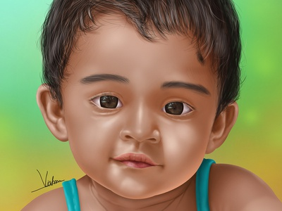 Fathima Baby   Portrait Art