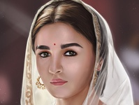 Alia Bhatt | Portrait Digital Painting actress hindi hollywood portrait logo drawaing people painting photoshop illustration digital paint digital 2d