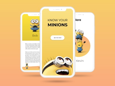 Know Your Minions dailyui 002 uidesign 100dayschallenge 100daysofui dailyui gradient design gradient minions