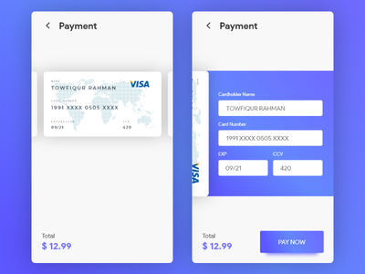 Credit Card Payment uxdesign uidesign dailyui 005 credit card checkout card payment payment gradient gradient design 100daysofui dailyui 100dayschallenge