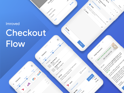 Improved Checkout Flow uidesign ui flow stepper checkout