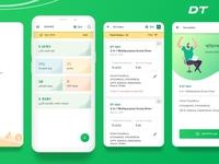 Logistic Service Provider App ui gradient green table delivery app logistics