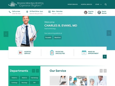 Hospital Homepage Redesign