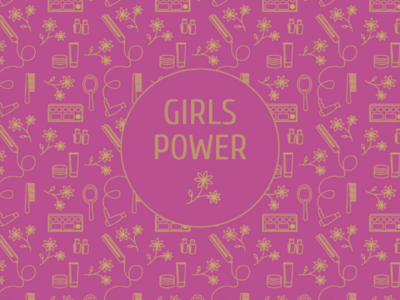 Girls power pattern beauty women girls pattern vectorpattern