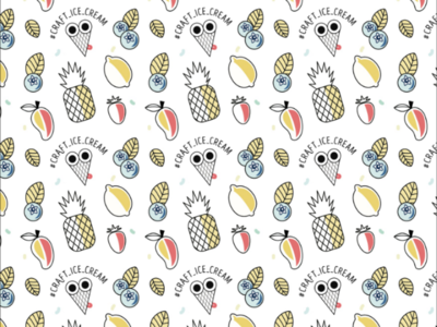 Ice cream pattern fruit icecream graficdesign pattern