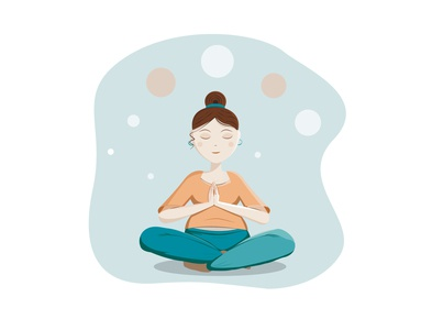 Yoga girl vectorart meditation relax workout fitness yoga