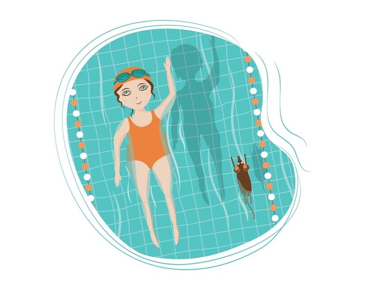 Swimming swimming swimmingpool characterdesign character sports sport