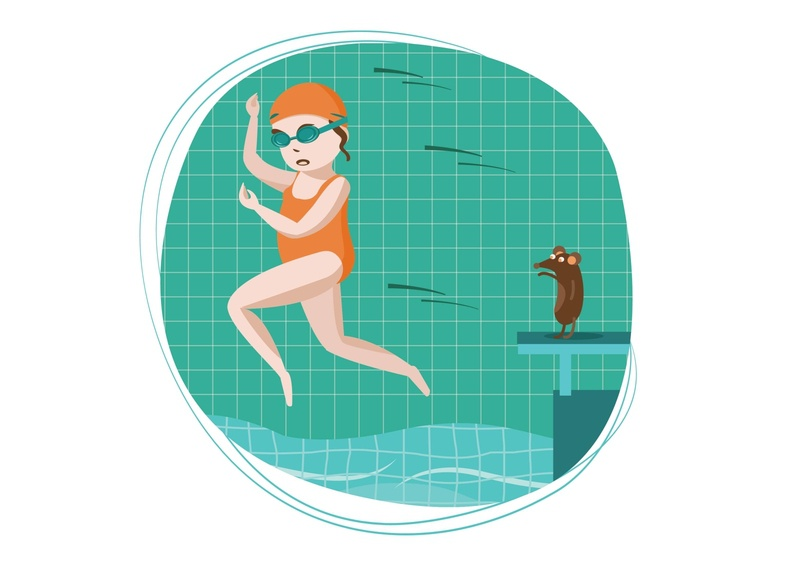 Swimming 2 swimmingpool swimming swimmer vector illustration sports characterdesign character
