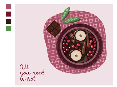 All you need is hot illustration vector berries sweets sweet tea hotdrink drink