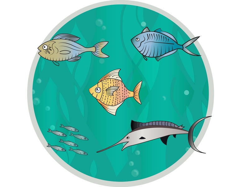 Fish design fishbowl fish illustration vector