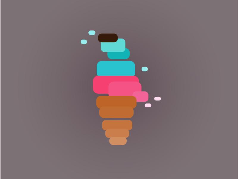 Ice cream milk sweets sweet summer icecream illustration logo design vector