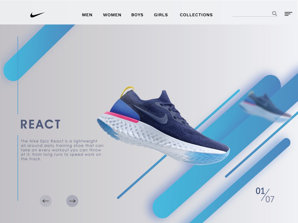 Sneaker Store Landing Page by Vighnesh