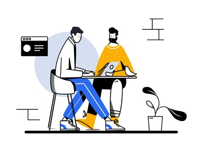 Deal deal job work behance dribbble website digitalart blue art vector minimalism ui drawing design illustration