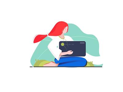 Card ux vector app ui design minimalism illustration drawing