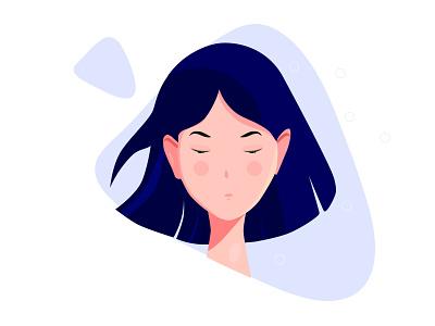 Sad Girl vector minimalism illustration drawing design