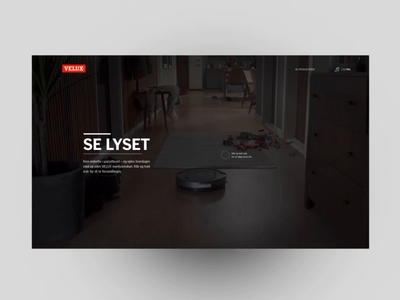 Velux - Website experience desktop website design