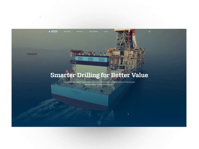 Website – Maersk Drilling desktop motion animation website design