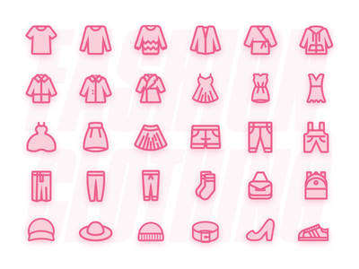 Costume Icon package hat socks loose coat skirt trousers shoes t-shirt woman clothes shop womens wear clothing fashion ui logo app design icon clothes 2019