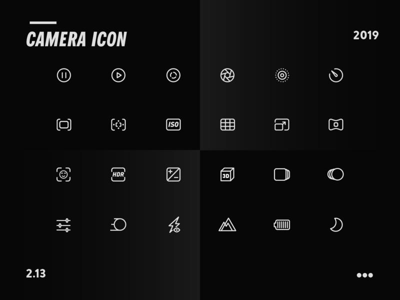 Camera Icon camera icon line circular photo photograph photography ux vector branding package animation fashion illustration logo design 2019 app camera ui icon