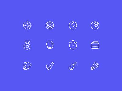 Sport Icon package logo web ux fashion vector animation sports motion icon app ui 2019 illustration design