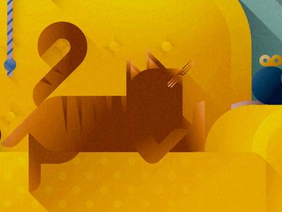 Yellow sofa cat