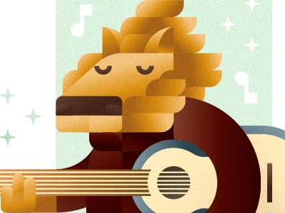 Lion guitarist