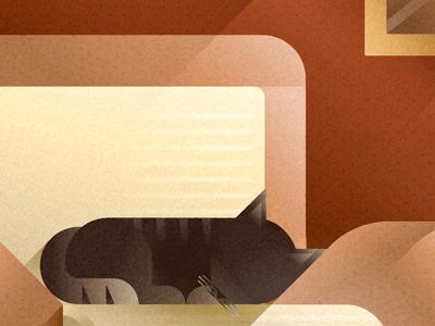 Beige sofa cat