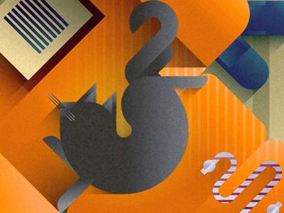 Orange sofa cat