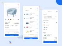Product and Checkout ecommerce interior mobile apps mobile app uxdesign ecommerce design uiuxdesign