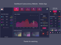 Cryptocurrency Dashboard - Web and Mobile App