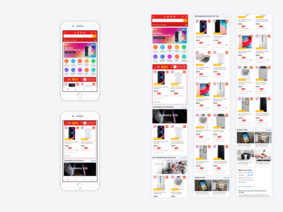 UI/UX Homepage Ecommerce Mobile/App