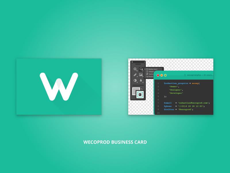 Wecoprod Business Card flat card wecoprod business card