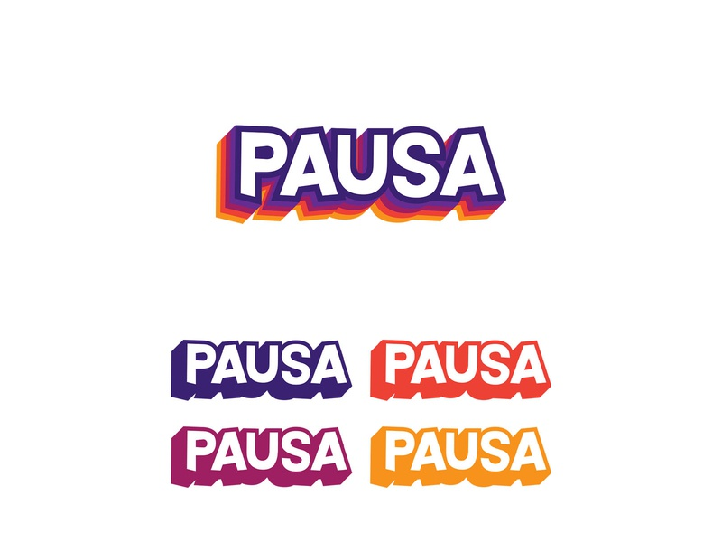 PAUSA Kids typography logotype red yellow orange purple saudi arabia event kids art kids branding logo vector illustrator graphic design graphic design