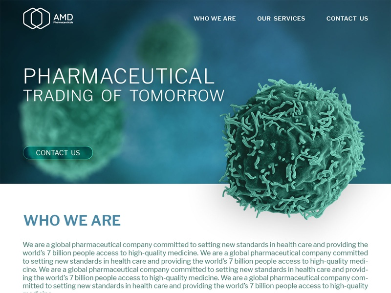 AMD Pharmaceuticals Website syria medicine medical pharmaceuticals photoshop branding web design website concept website ux ui illustrator graphic design graphic design
