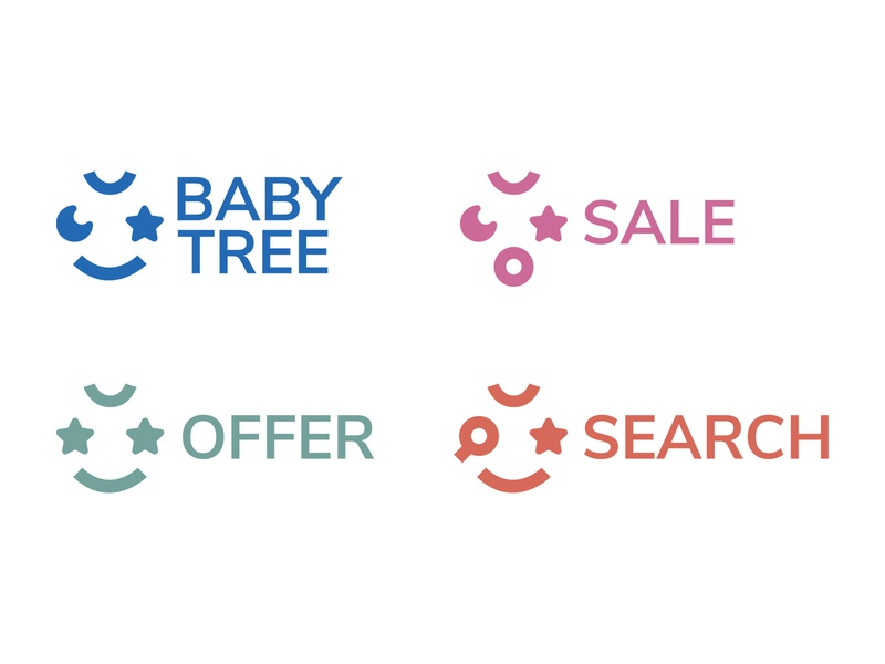 BABY TREE - Dynamic Logo pattern shape geometric packaging arabic dynamic logo visual identity online shopping kids baby saudi arabia logo branding illustrator graphic design design graphic