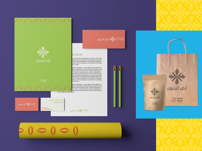 Olive Land - Stationery festival visual identity visual design saudi arabia olive stationery branding artistic art illustrator graphic design graphic design