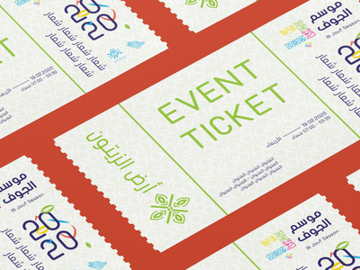 Olive Land - Event Tickets olive visual identity visual design saudi arabia festival event ticket branding artistic art illustrator graphic design graphic design